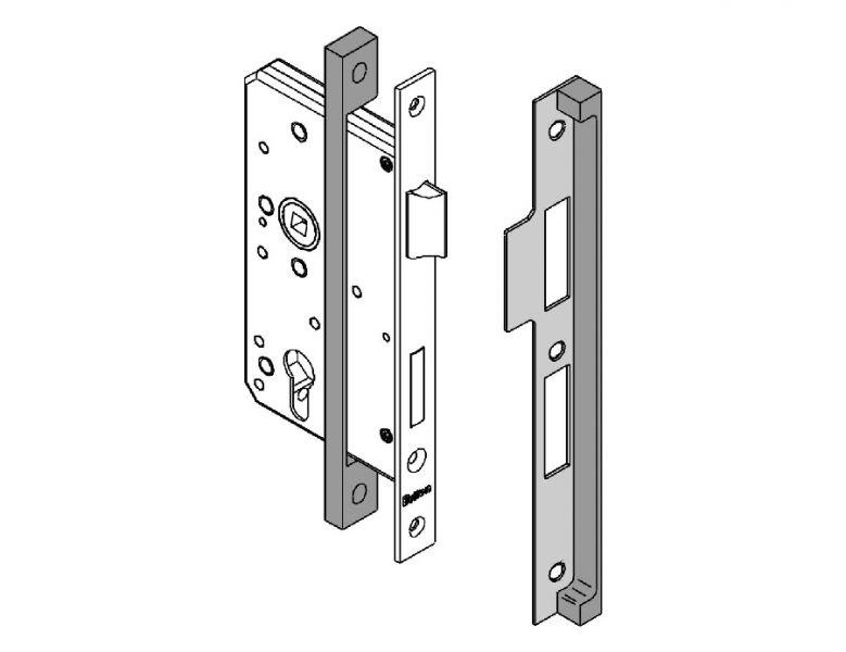 SS 13mm Rebate Kit   Image 1  sc 1 st  Briton Door Closers & Briton Rebate Kit 5000.03   Briton Hardware