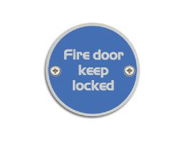 4750.11.SS 76mm Dia. Fire Door Keep Locked Symbol | Image 1