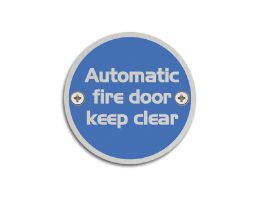 4750.12.SS 76mm Dia. Automatic Fire Door Keep Clear Symbol | Image 1